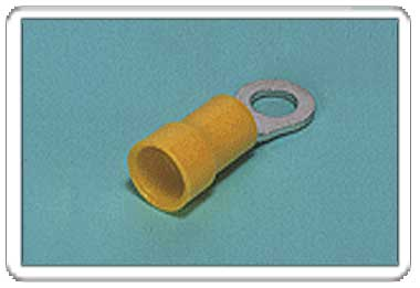 Ring tongue terminal (R-type, Nylon-insulated) (flared)