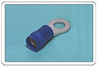 Ring tongue terminal (R-type, Vinyl-insulated with copper sleeve) (flared)