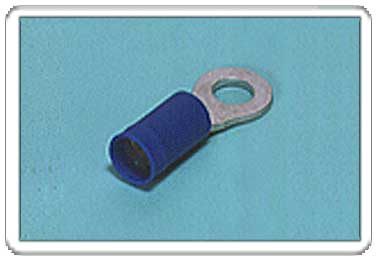Ring tongue terminal (R-type, Vinyl-insulated with copper sleeve) (straight)