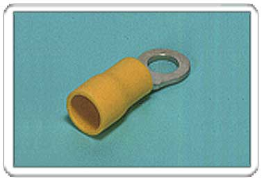 Ring tongue terminal (R-type, Vinyl-insulated) (flared)