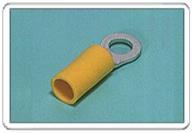 Ring tongue terminal (R-type, Vinyl-insulated) (straight)