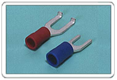 Spade tongue terminal (A-type/B-type, Vinyl-insulated) (flared)