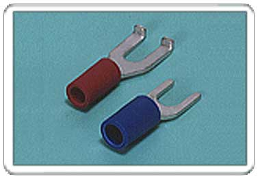 Spade tongue terminal (A-type/B-type, Vinyl-insulated) (straight)